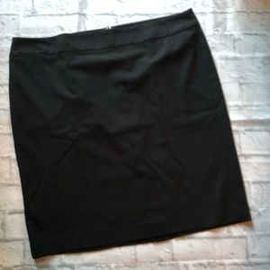 Talbots women's black plus size pencil skirt 20